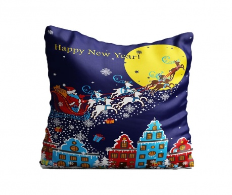 Perna decorativa Christmas Night In Town 43x43 cm