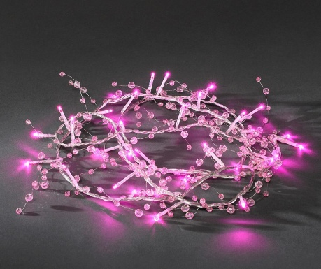 Ghirlanda luminoasa Elvy Pink 700 cm