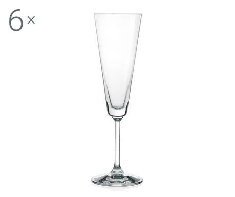 Set 6 kozarcev za šampanjec Fiore 180 ml