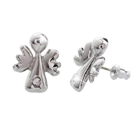 Cercei Crystal Angels Silver