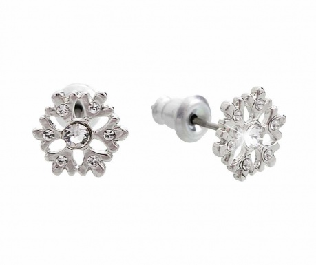 Kolczyki Crystal Snowflake
