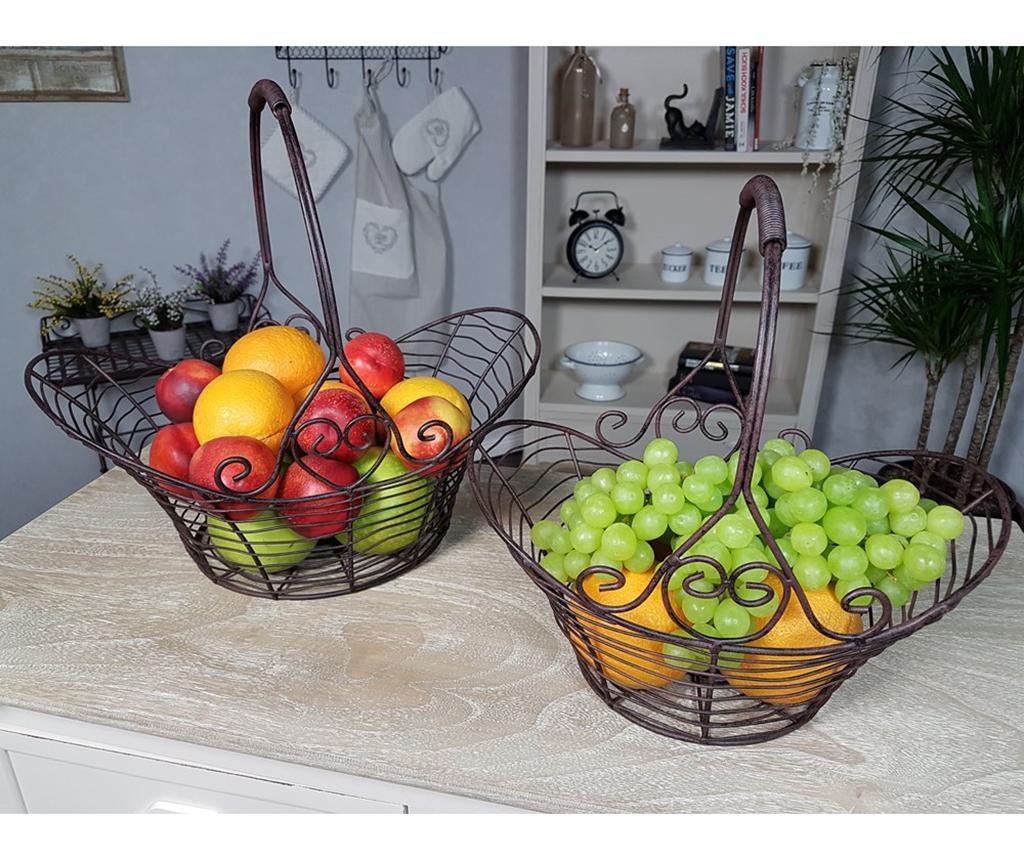 Set 2 fructiere Look Brown