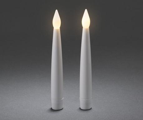 Σετ 2 κεριά με LED Flickering