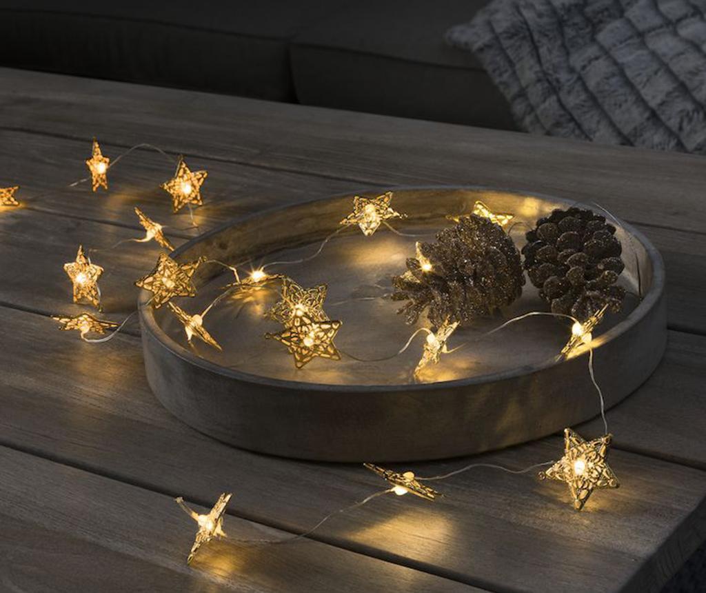 Ghirlanda luminoasa Stars Golden 190 cm