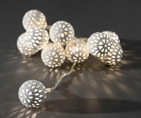 Светеща гирлянда White Beads 90 см
