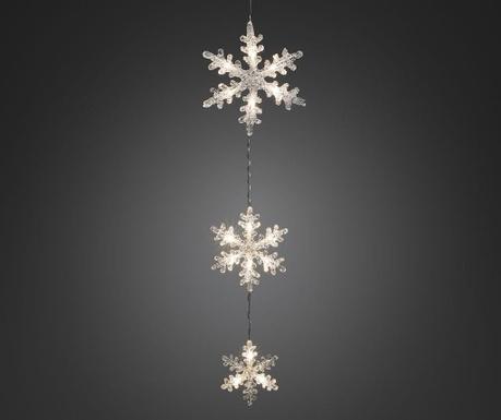 Decoratiune luminoasa pentru exterior Three Showflakes