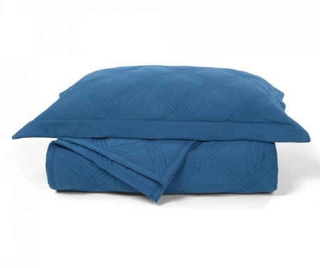 Set prošiveni prekrivač King Percale Ellwood Royal Blue