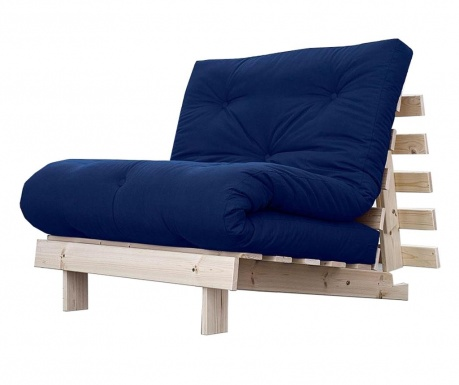 Sofa extensibila Roots Natural and Royal Blue 90x200 cm