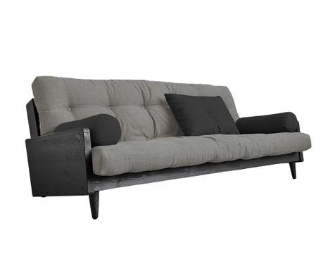 Sofa extensibila Indie Black and Granit Grey