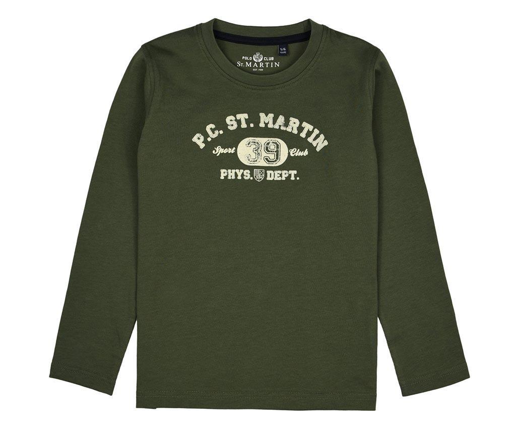 Otroška majica z dolgimi rokavi Tobias Green 5-6 let