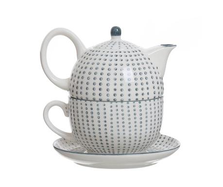 Set - čajnik s skodelico in krožničkom Dots