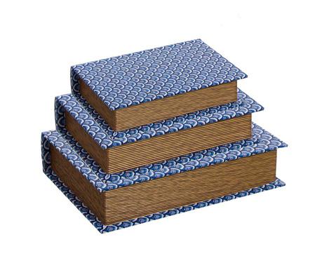 Set 3 škatel v obliki knjige Jakarta