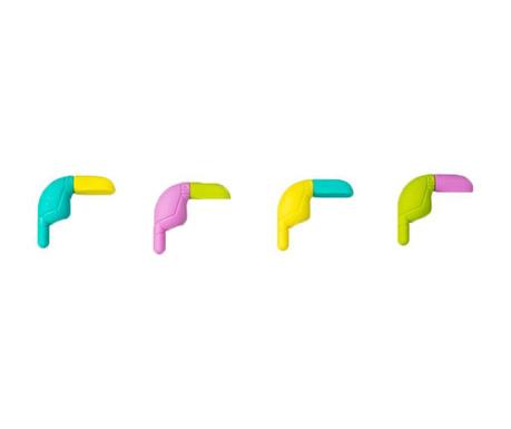 Sada 16 mazacích gum Toucan