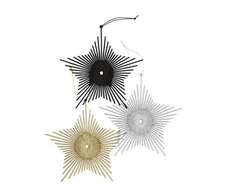 Set 3 visečih dekoracij Stars