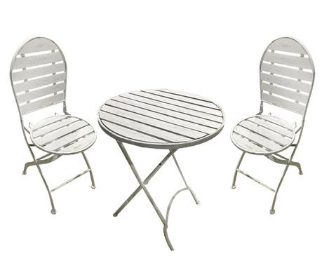 Set - zložljiva miza in 2 zložljiva stola Ophelia