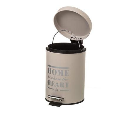 Кош за отпадъци с капак и педал Home Heart Cream 3 L
