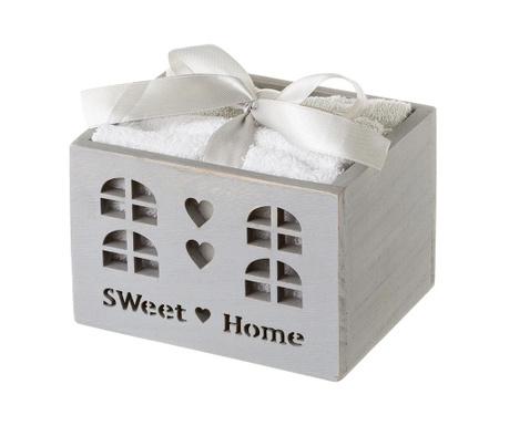 Комплект 4 кърпи за баня и кутия Sweet Home
