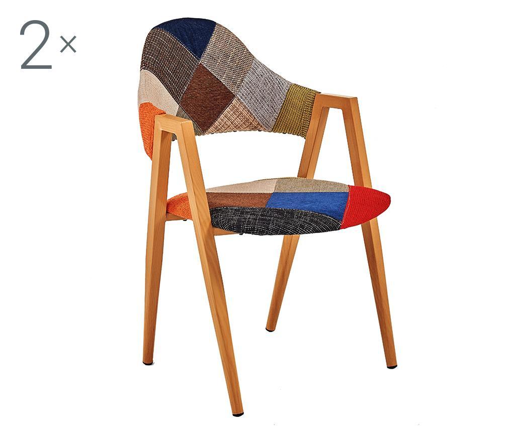 Sada 2 židlí Patchwork Classic