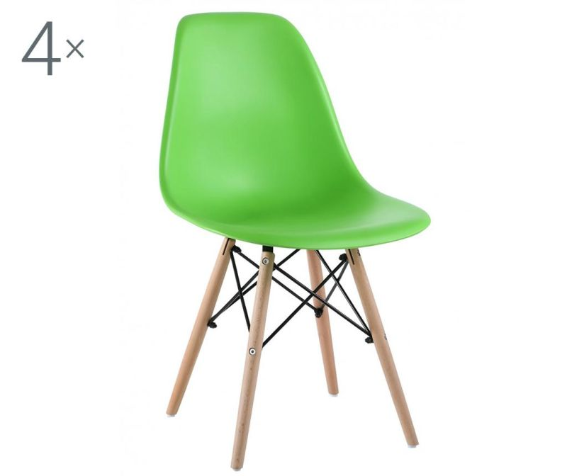 Комплект 4 стола Lunaria Light Green