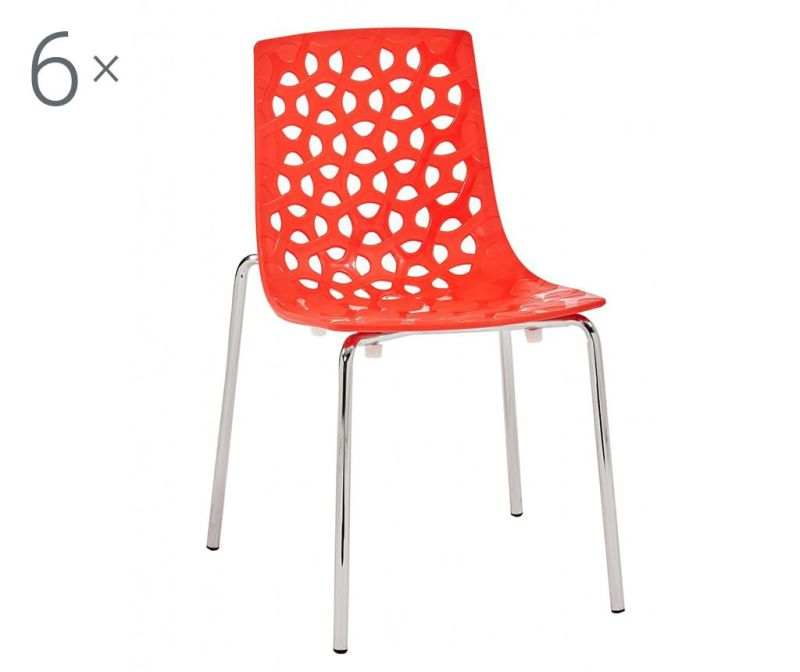 Set 6 stolica Dhalia Red