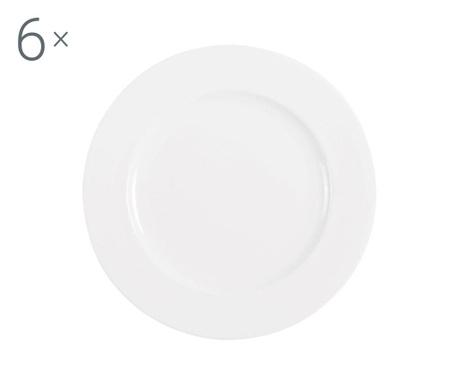 Сервиз 6 плитки чинии Federica White