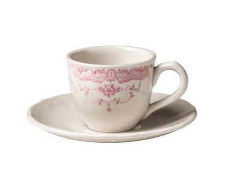 Сервиз 6 чашки и 6 чинийки за кафе Rose Pink