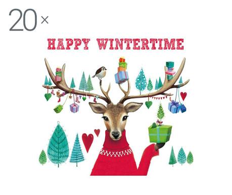 Zestaw 20 chusteczek Happy Winter