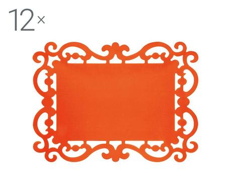 Комплект 12 подложки за хранене Baroque Orange 32x44 см