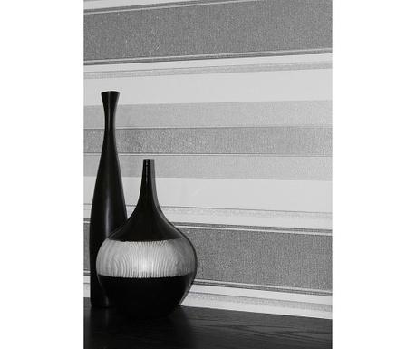 Stenska tapeta Palazzo Stripe Silver 53x1005 cm
