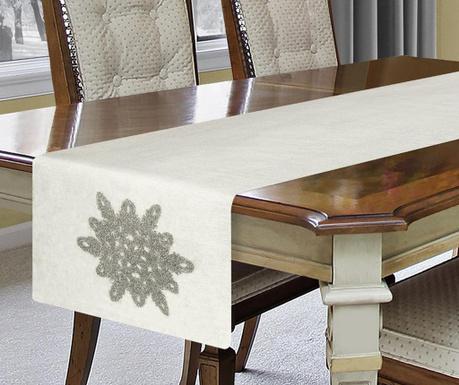 Bieżnik stołowy Star White 40x140 cm