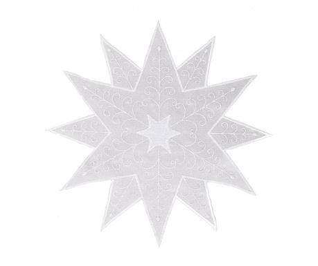 Sredinski pogrinjek Bora Silver White 30x30 cm
