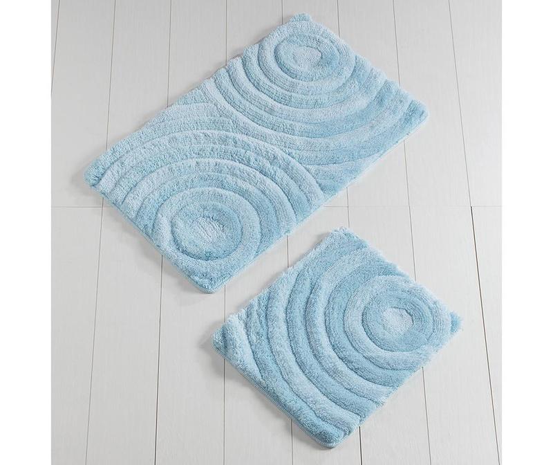 Set 2 kopalniških preprog Circles Blue