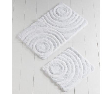 Circles White Glitter 2 db Fürdőszobai szőnyeg