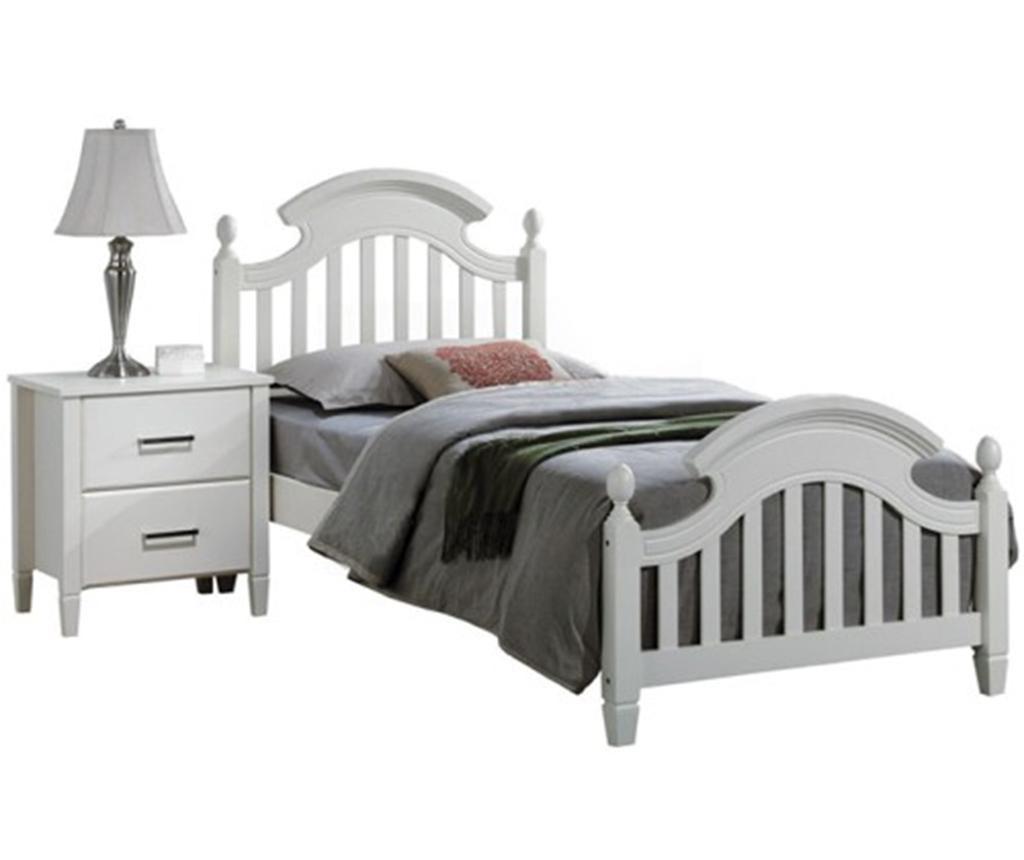 Łóżko Tobias White 90x200 cm