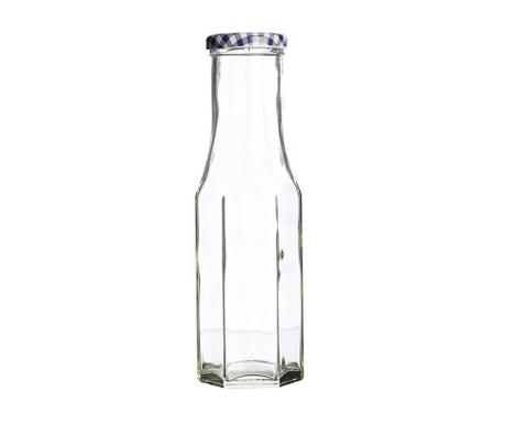 Twist Hexagonal Üvegpalack kupakkal 250 ml