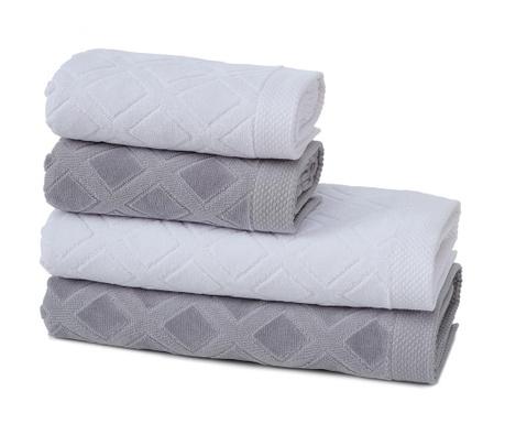 Sada 4 ručníků Jacquard Rose