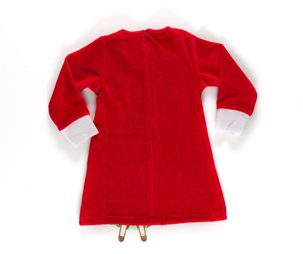 Šaty s dlouhým rukávem pro děti Cute Deer Velvet 6 r.