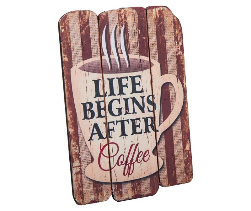 Zidni ukras Life Begins After Coffee