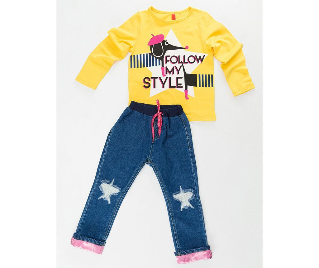 Otroški komplet - majica in hlače Stylish Dog 4 let