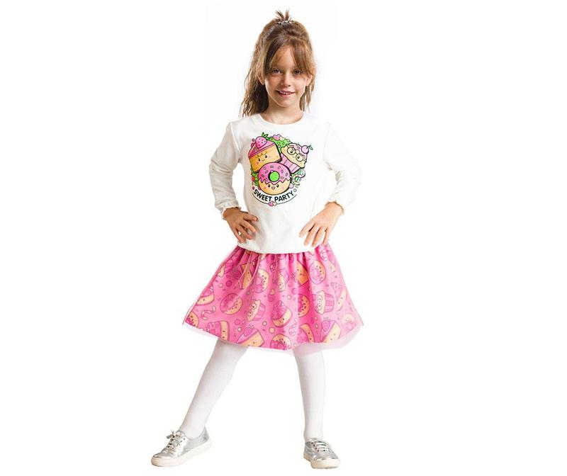 Otroški komplet - majica in krilo Sweet Party 6 let