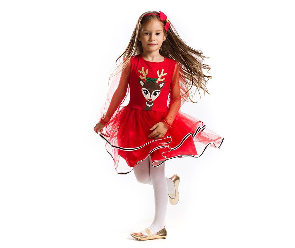 Otroška obleka z dolgimi rokavi Tulle Deer 4 let