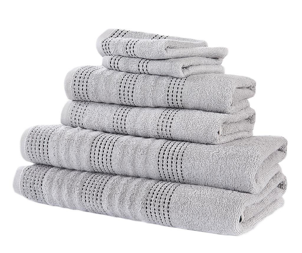 Set 6 kupaonskih ručnika Spa Silver