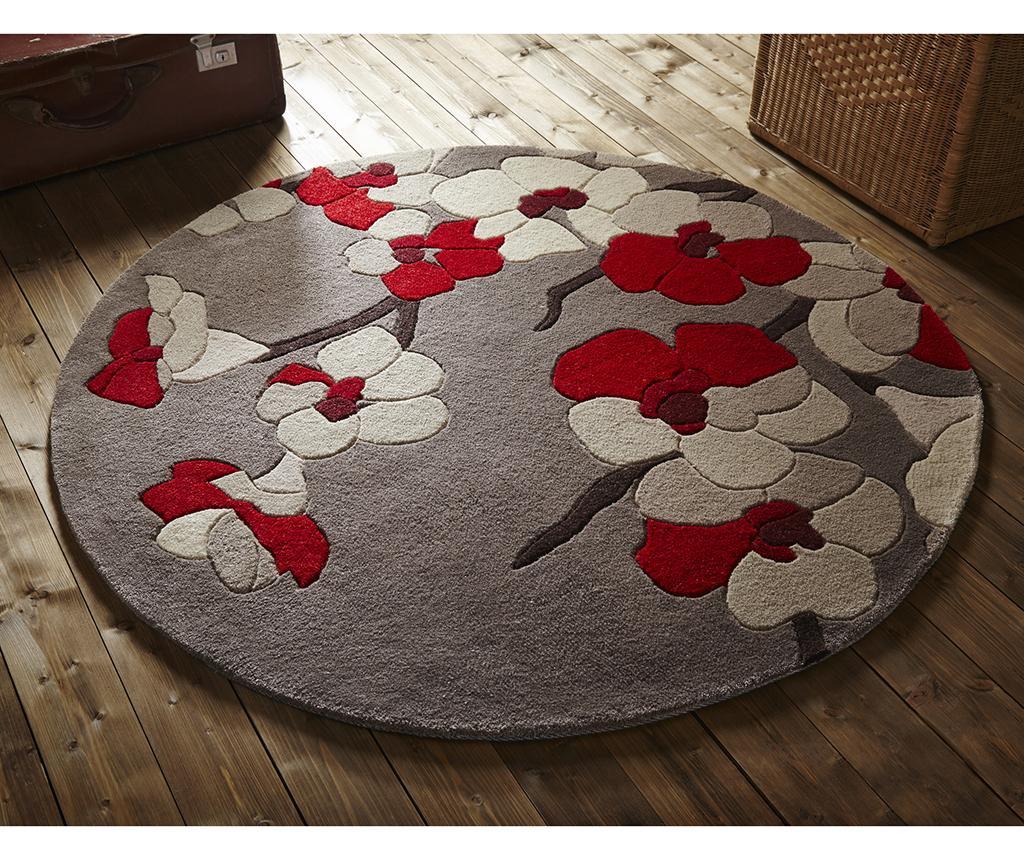 Koberec Blossom Red Round 135 cm