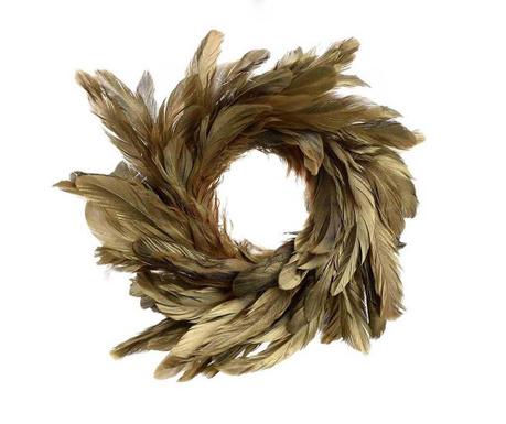 Dekoracija Feathers Gold