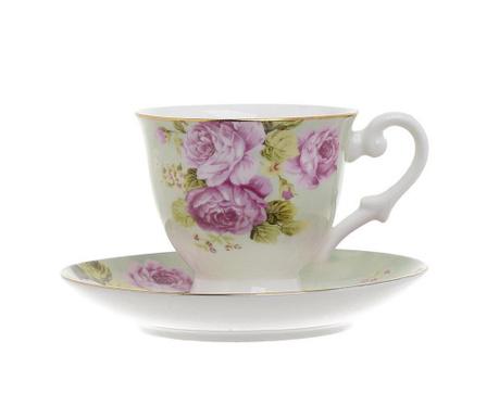 Set 6 skodelic za kavo in 6 krožničkov Inspiration