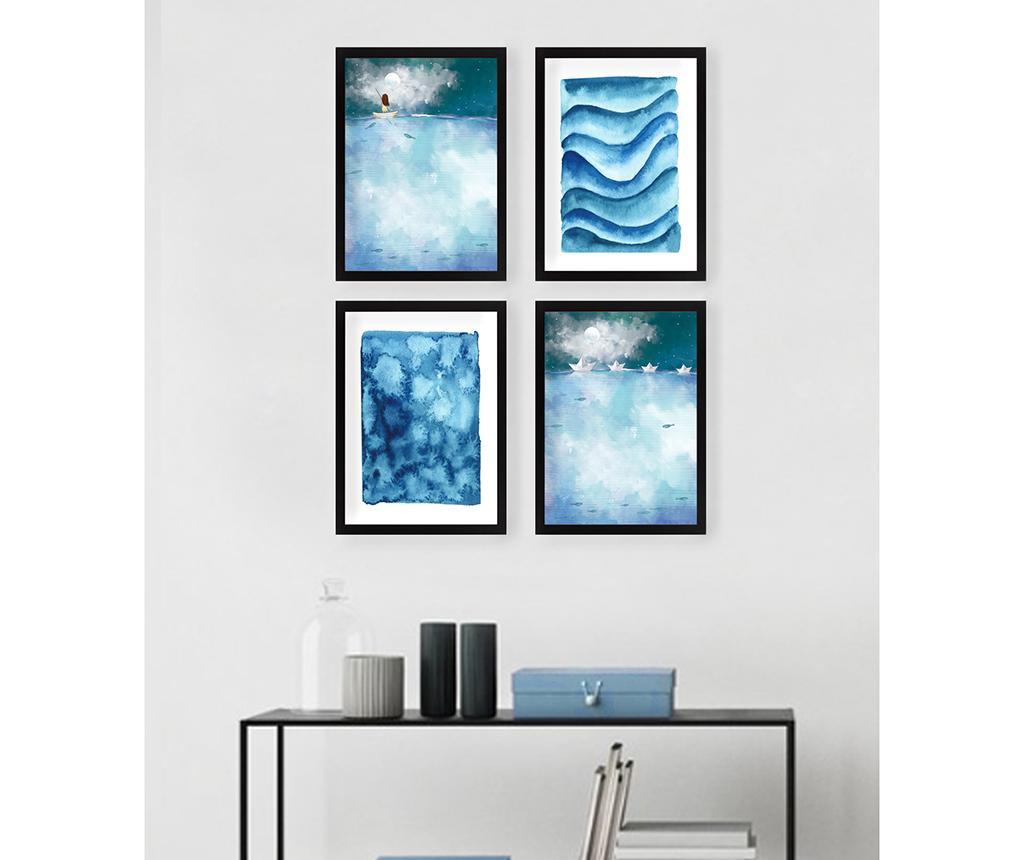 Set 4 tablouri Vast Sea 24x29 cm