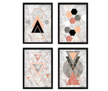 Комплект 4 картини Geometric 34x44 см