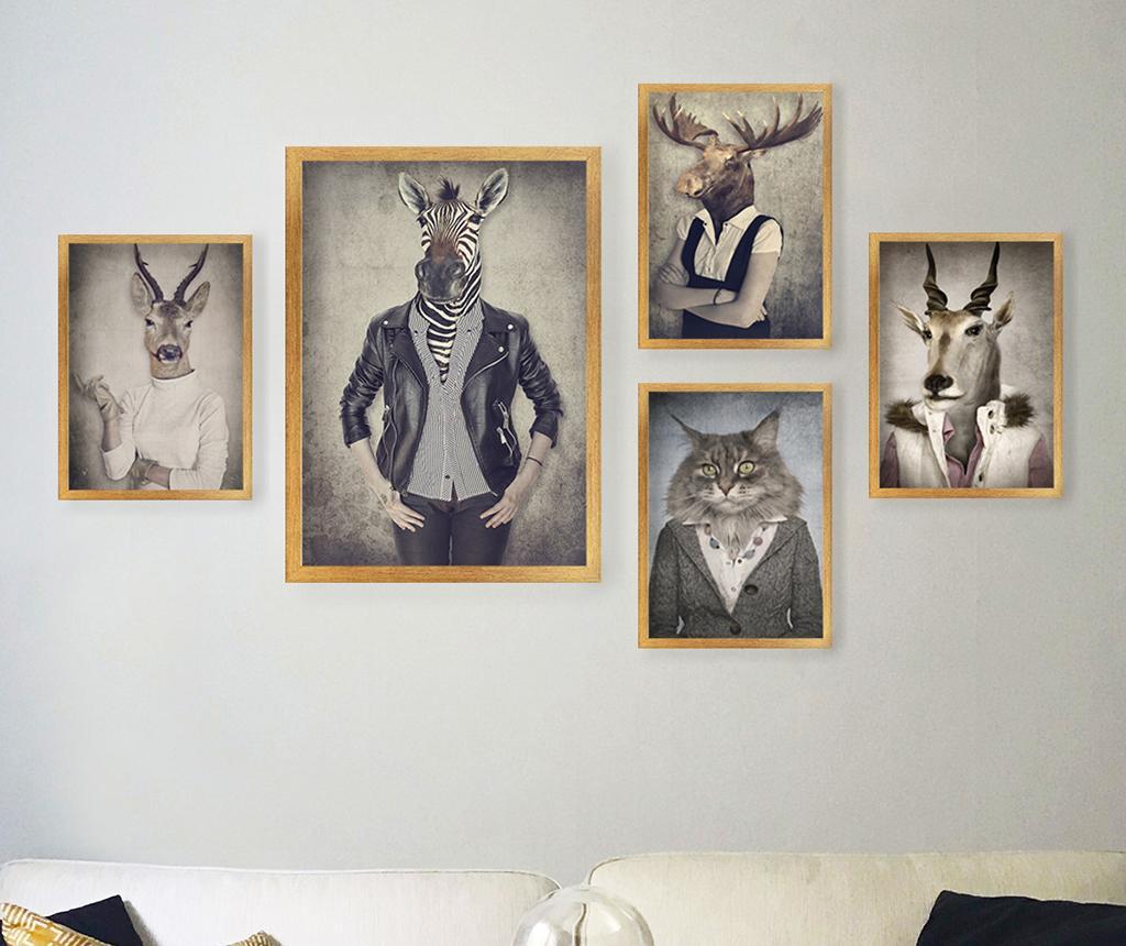 Set 5 slik Stylish Animals