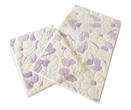 Purple Flowers 2 db Fürdőszobai szőnyeg