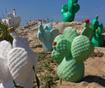 Nočna svetilka The Cactus Wireless Light Green